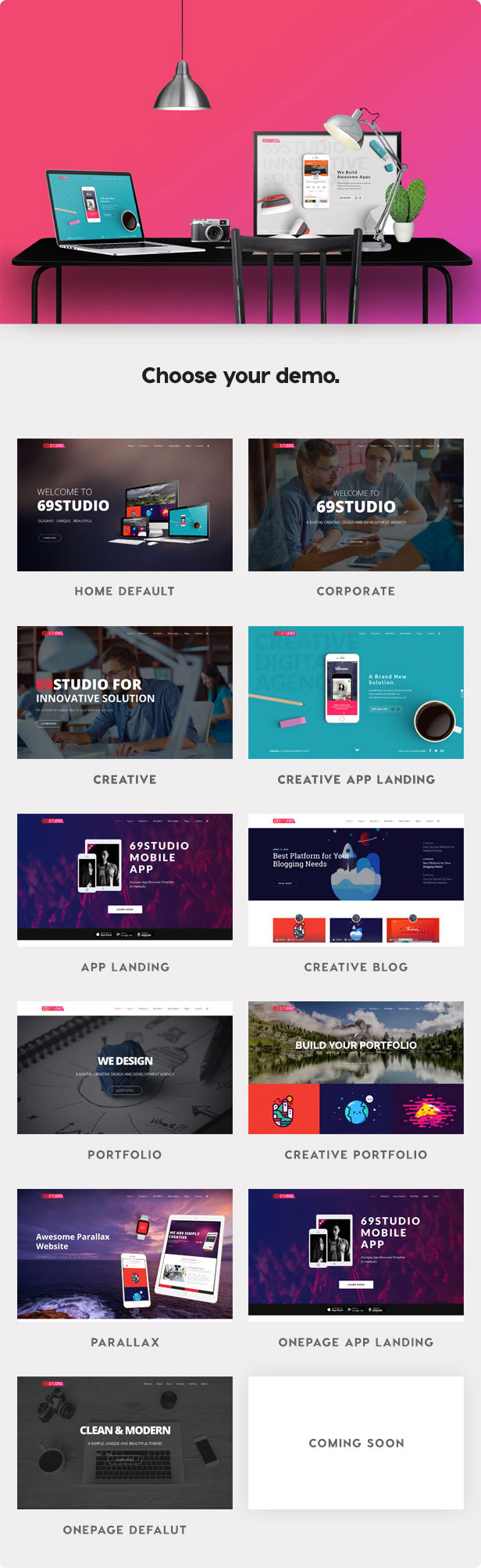 BUSINESS THEME  Download SixtyNineStudio – Creative Agency WordPress Theme nulled 4