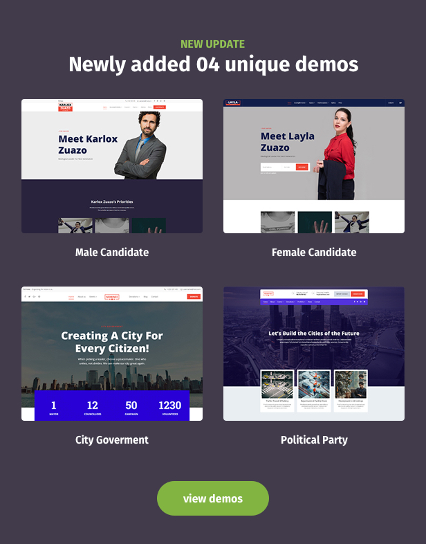 Nominee - Political WordPress Theme for Candidate/Political Leader Download
