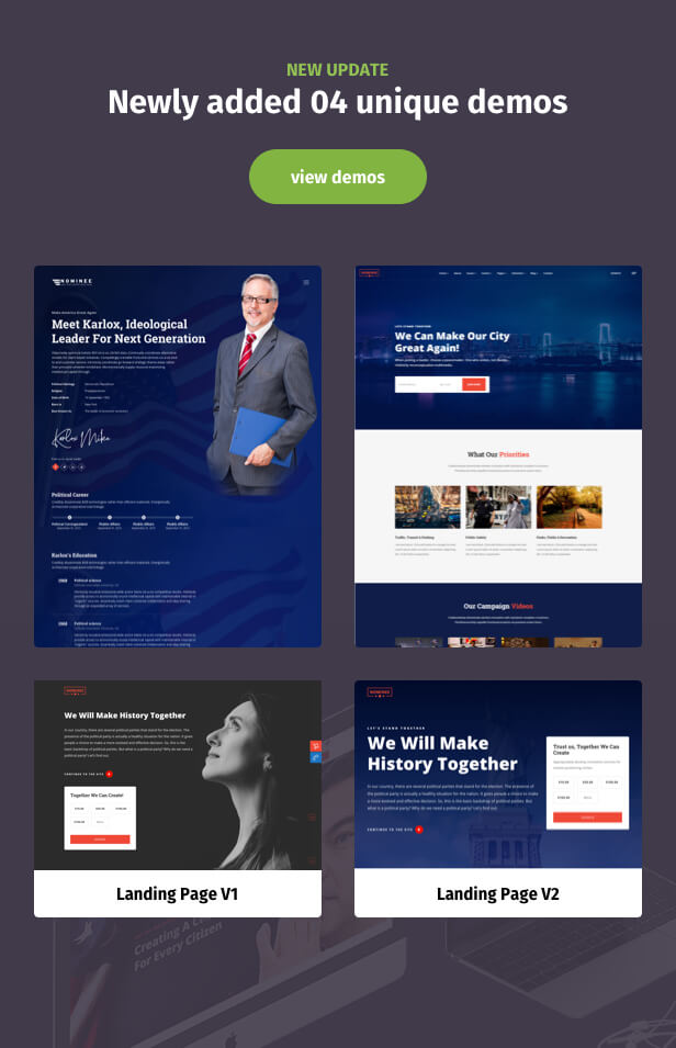 Political WordPress Theme New update