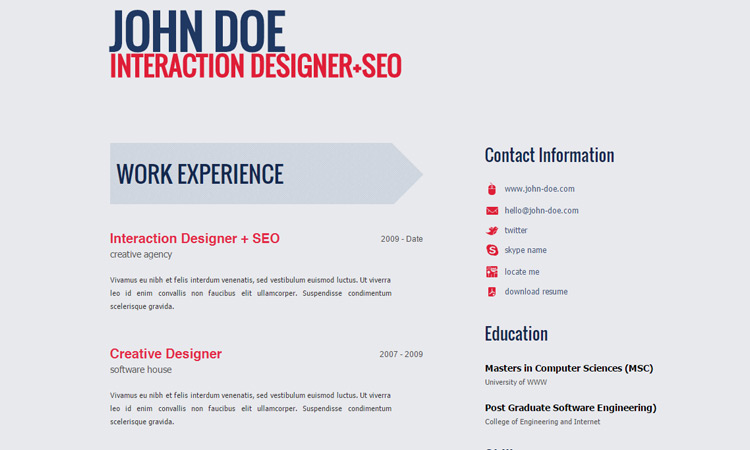 11-free-web-resume-template