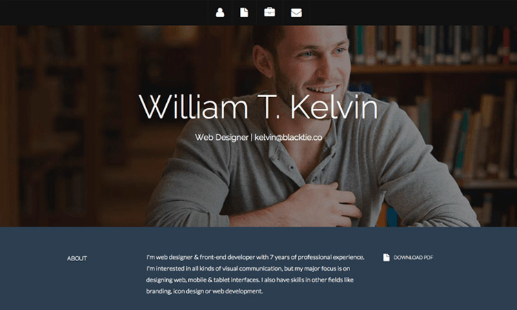 15-free-web-resume-template
