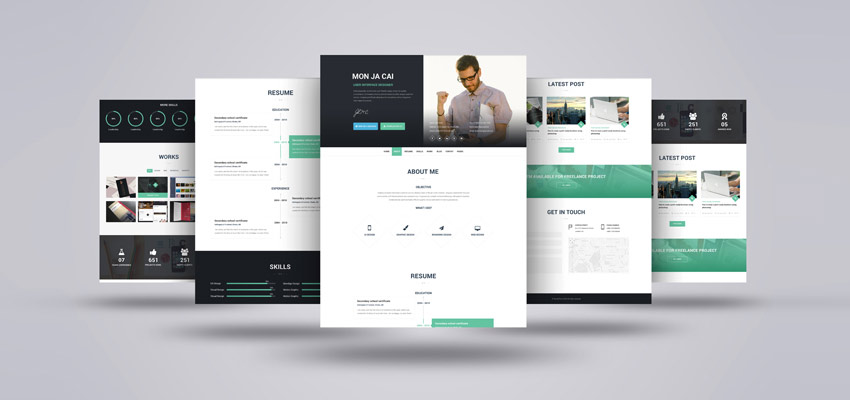 "Freebie: ""I AM X"" One Page Resume Template"