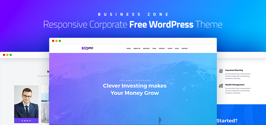 Biz Zone – Amazing Responsive Corporate Business Free WordPress Theme