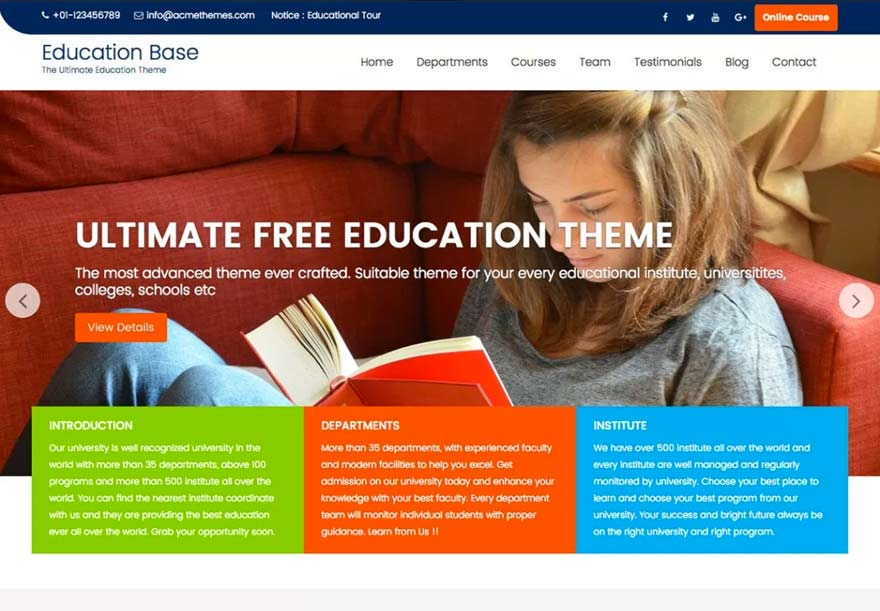 Best free WordPress theme in 2017