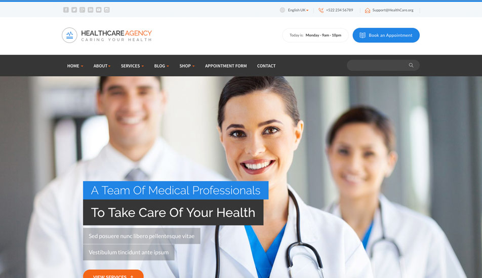 HTML5 Medical Template
