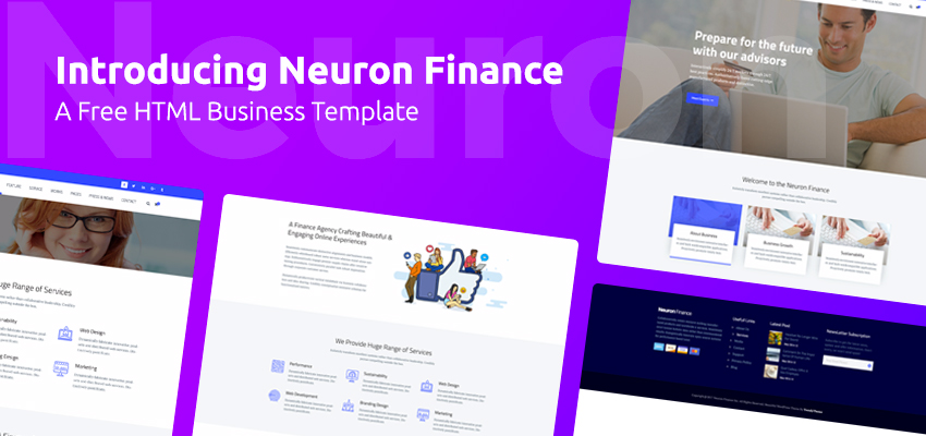 Introducing neuron finance a free html business template trendy theme cheaphphosting Images