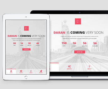 "<span itemprop=""name"">Daran – Coming Soon PSD Template</span>"
