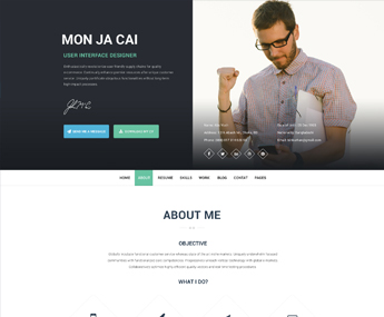 I am x PSD Web Resume