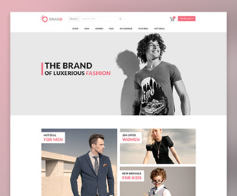 Brand Fashion eCommerce PSD Template