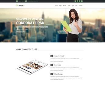 UniqueBiz Corporate HTML Template