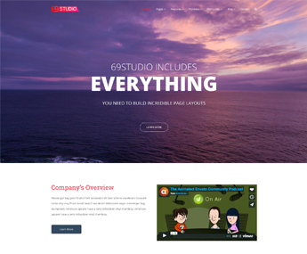 "<span itemprop=""name"">69Studio Agency WordPress Theme</span>"