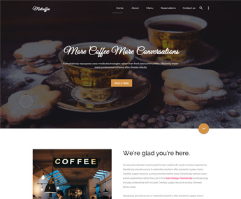 Matcafe – Material Design Coffee Shop PSD Template