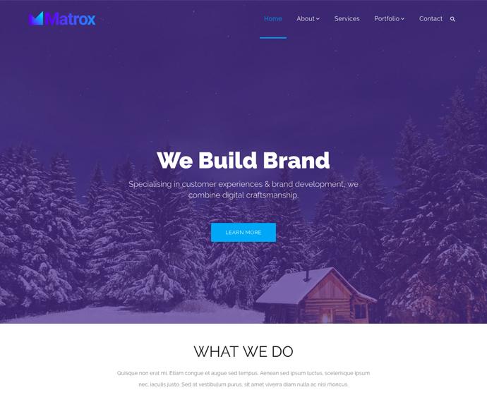 Matrox Material HTML Template