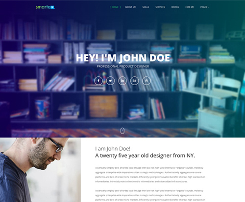 "<span itemprop=""name"">Smartex WordPress Portfolio Theme</span>"