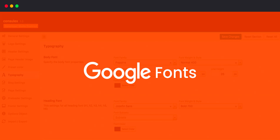 Google Fonts Support