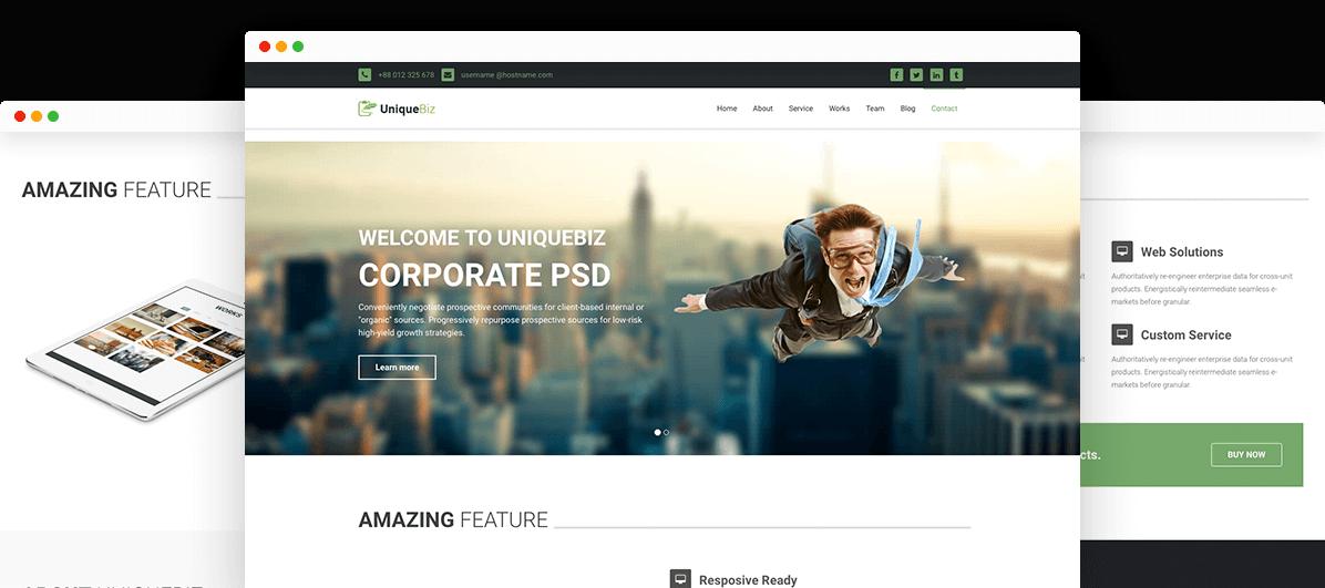 UniqueBiz Corporate HTML Template |Trendy Theme