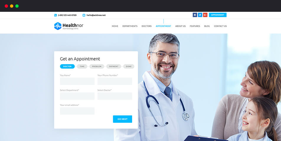 Online Appointment Facilities with Appointment Page