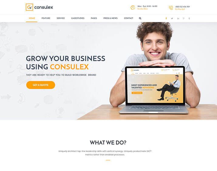 Consulex – Finance & Consulting Business HTML Template