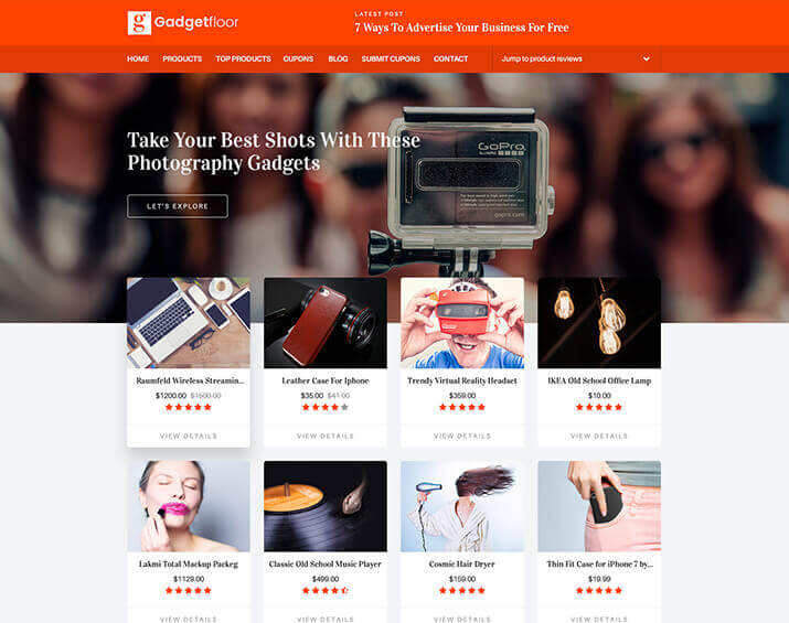 "<span itemprop=""name"">Gadgetfloor – Affiliate Marketing  HTML Template</span>"