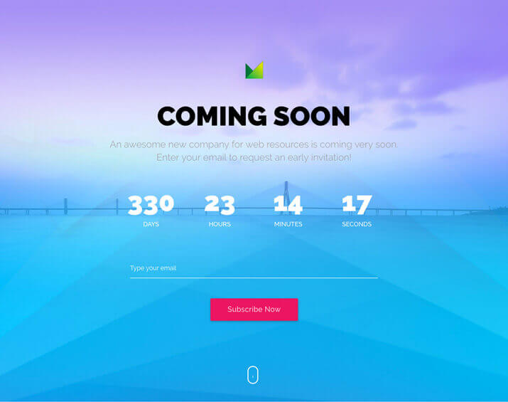 Matrox – Material Design Coming Soon HTML Template