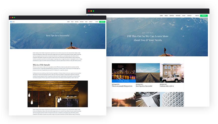 Elegant Blog Pages