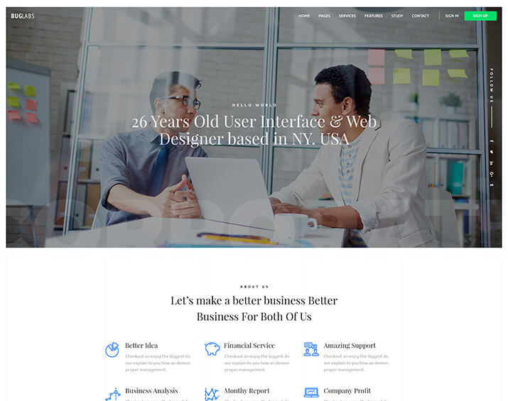 Bub Labs – A Responsive Creative & Corporate HTML Template