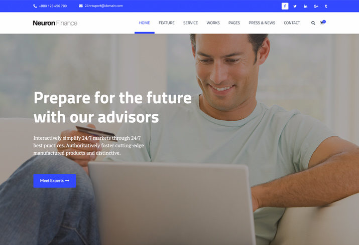 Introducing neuron finance a free html business template trendy theme express a lot of things about your business notably you can add the essential call to actions here accordingly this free html business template wajeb Gallery