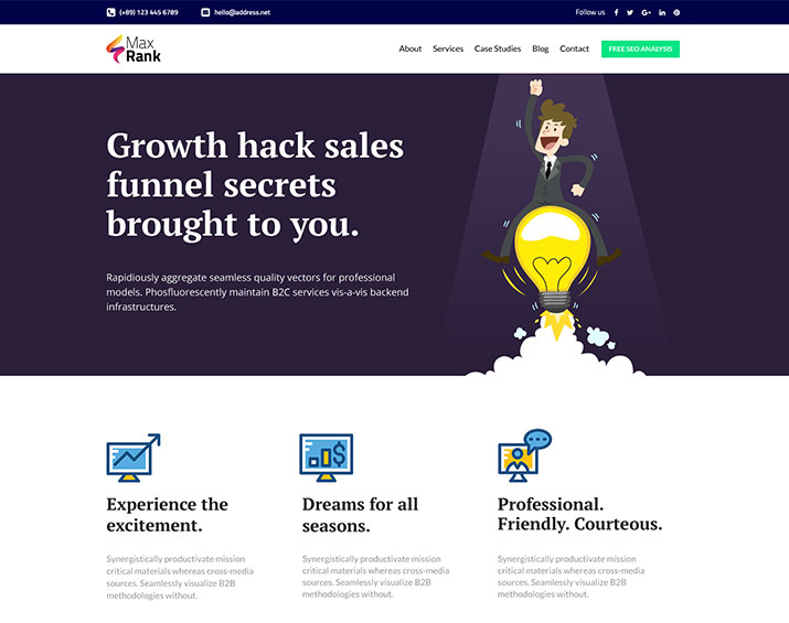 "<span itemprop=""name"">Max Rank- Free HTML Template for Marketing Agency</span>"